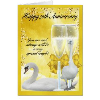 50.o aniversario - aniversario de oro tarjeta de felicitación