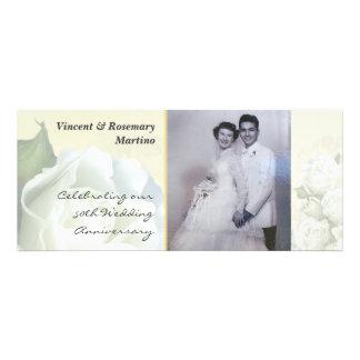 50.o aniversario - boda blanco antiguo subió anuncio
