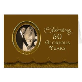 50.o Aniversario de boda - años gloriosos Felicitacion