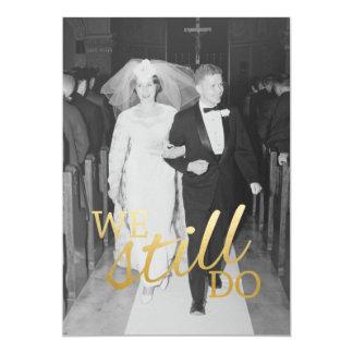 50.o Aniversario de boda con la foto - todavía Invitación 12,7 X 17,8 Cm