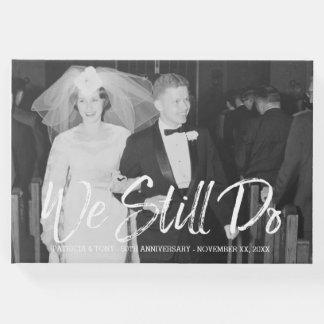 50.o Aniversario de boda con la foto - todavía Libro De Visitas