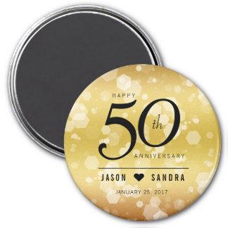 50.o aniversario de boda de oro elegante imanes
