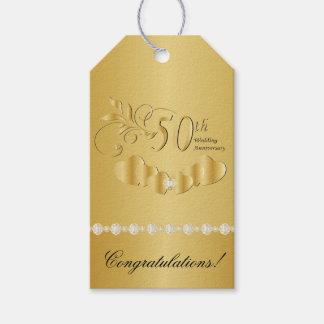 50.o Aniversario de boda de oro Etiquetas Para Regalos