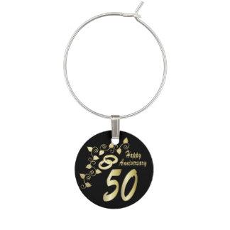 50.o Aniversario de boda de oro Identificadores De Copas