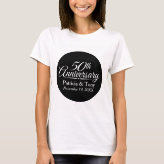 50.o Aniversario de boda de oro personalizado Camiseta