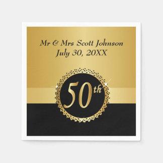 50.o Aniversario de boda de oro Servilletas De Papel