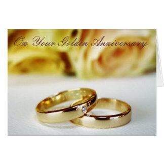 50.o Aniversario de boda de oro Tarjeta