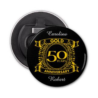 50.o Aniversario de boda del oro Abrebotellas Redondo