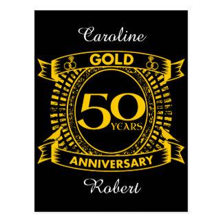 50.o Aniversario de boda del oro Postal