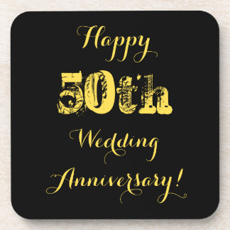 50.o aniversario de boda feliz posavaso