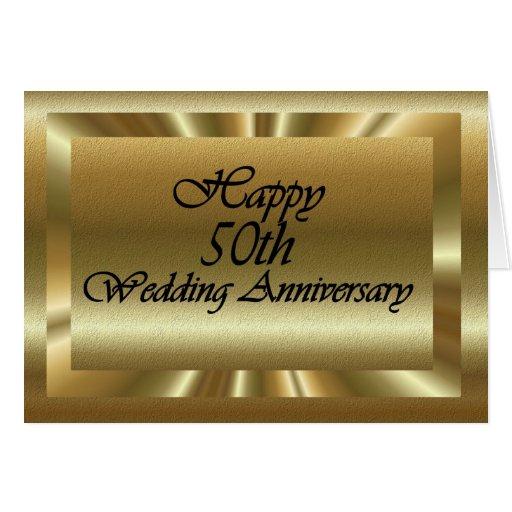 50.o aniversario de boda feliz felicitación