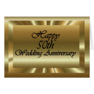 50.o aniversario de boda feliz tarjeta de felicitación