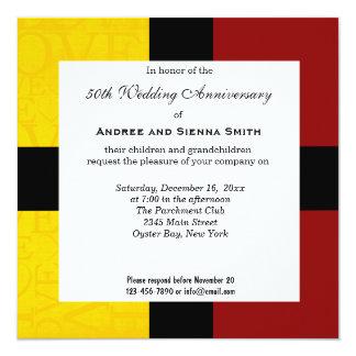 50.o Aniversario de boda Invitación 13,3 Cm X 13,3cm