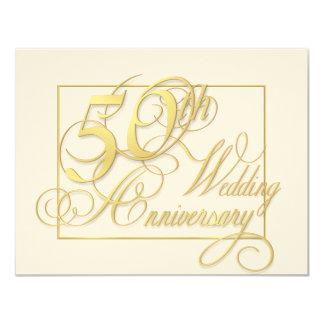 50.o Aniversario de boda - invitaciones baratas Invitación 10,8 X 13,9 Cm