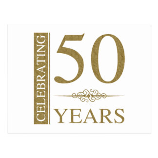 50.o Aniversario de boda Postal