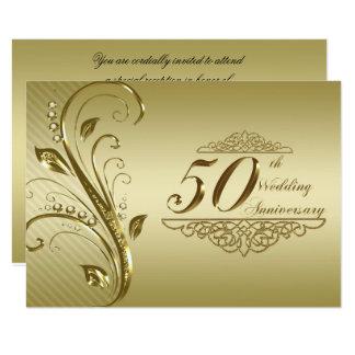 50.o Aniversario de boda RSVP Invitación 8,9 X 12,7 Cm