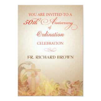 50.o Aniversario de la ordenación, sacerdote Invitación 12,7 X 17,8 Cm
