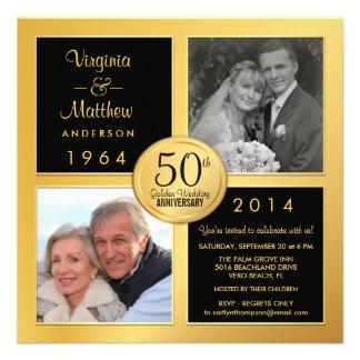 50 o Aniversario de oro con las fotos últimas y Invitaciones Personales