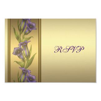 50.o Aniversario de oro RSVP violeta púrpura Invitación 8,9 X 12,7 Cm