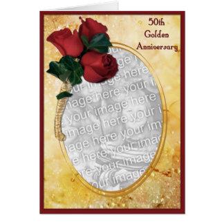 50.o aniversario de oro tarjeta