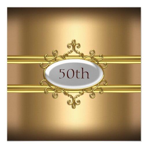 50.o aniversario del cumpleaños del oro comunicados personales