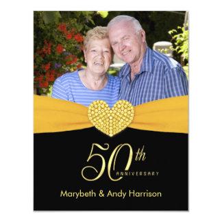 50.o aniversario - falsas invitaciones de la foto invitación 10,8 x 13,9 cm