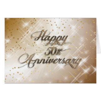 50.o aniversario feliz (aniversario de boda) tarjeta de felicitación