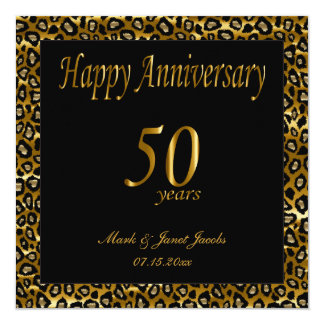 50.o aniversario feliz invitación 13,3 cm x 13,3cm