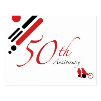 50.o Aniversario (pájaros de la MOD) Postal
