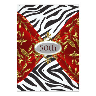 50.o Aniversario rojo del cumpleaños de la cebra