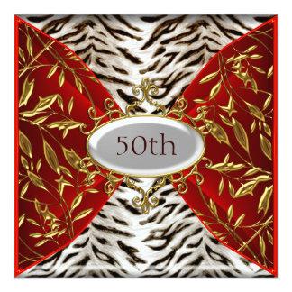 50.o Aniversario rojo del cumpleaños del tigre