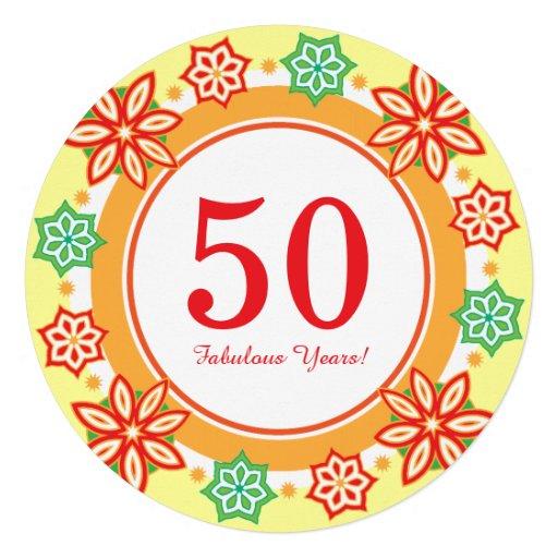 50.o Años fabulosos de la fiesta de cumpleaños cin Comunicados Personalizados