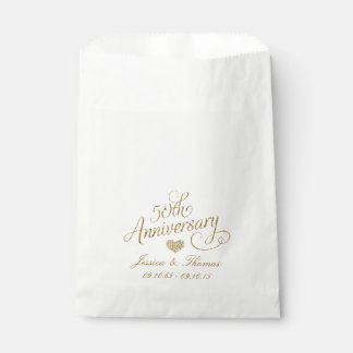50.o Bolso del favor del aniversario de boda de Bolsa De Papel