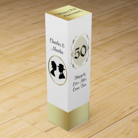 50.o Caja del vino del regalo del aniversario