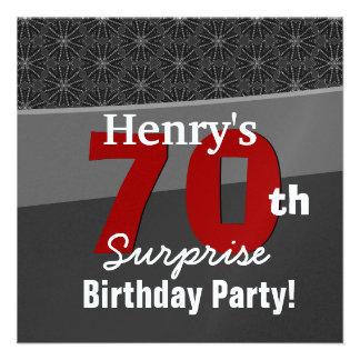 50.o Carbón de leña del cumpleaños de la sorpresa  Anuncio Personalizado