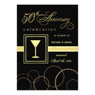 50.o Celebración del aniversario de boda - moderna Invitación 12,7 X 17,8 Cm