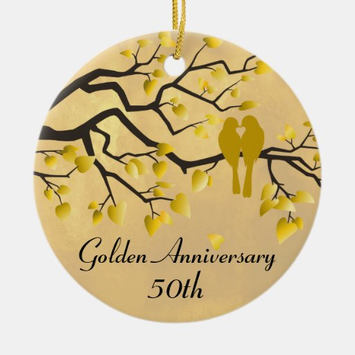 50.o Celebración personalizada aniversario Ornatos