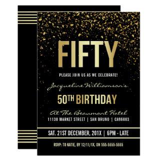 50.o Confeti brillante del oro de la fiesta de Invitación 12,7 X 17,8 Cm