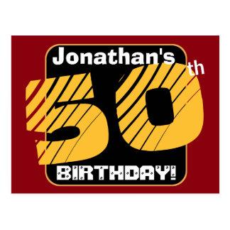 50.o Cumpleaños con el número rayado A14 del Postal