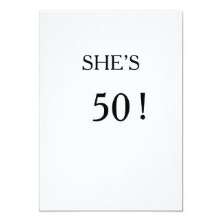 50.o cumpleaños de la invitación simple