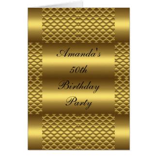 50.o Cumpleaños de la tarjeta de cumpleaños del or