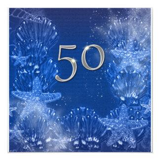 50.o cumpleaños de plata azul tropical