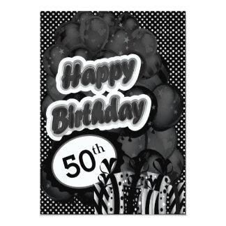 50.o Cumpleaños del jalón Invitación 12,7 X 17,8 Cm