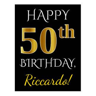 50.o cumpleaños del oro negro, falso + Nombre de Postal