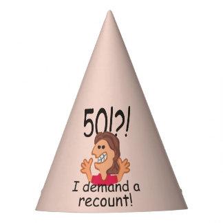 50.o cumpleaños del recuento divertido gorro de fiesta