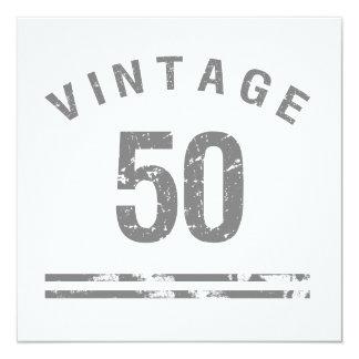 50.o cumpleaños del vintage invitación 13,3 cm x 13,3cm