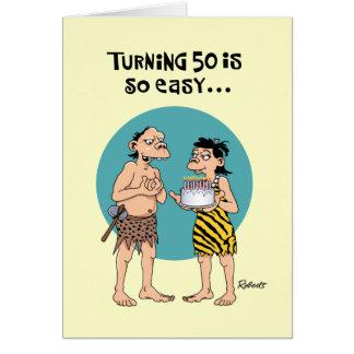 50.o cumpleaños divertido tarjeta de felicitación