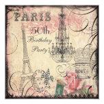 50.o cumpleaños elegante de la torre Eiffel y de Comunicados