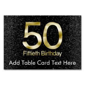 50.o Cumpleaños, encanto negro elegante del oro