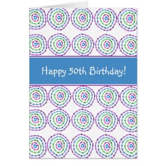 ¡50.o cumpleaños feliz! Tarjeta